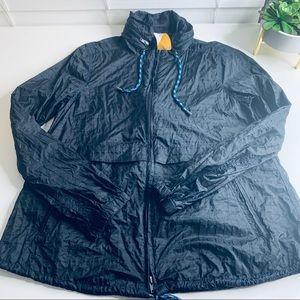 Free People Packable Windbreaker Jacket Blue L